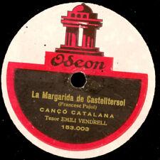 EMILI VENDRELL La Margarida de Castelltersol -Cancó Catalana-   78rpm S1864