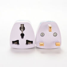 Universal US AU EU to UK AC Power Plug White Travel Wall Adapter Plug ConverterD