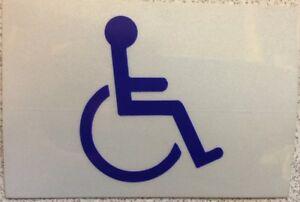 "Handicap Reflector Sticker Decal 3""x 3"" Vinyl"