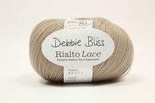 Debbie Bliss Rialto Lace Shade 31/Stone 100% Extra Fine Merino Wool 10x50g Bag
