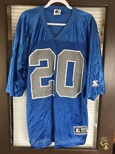 Vintage 95 Barry Sanders Detroit Lions #20 NFL Starter Jersey Thanksgiving Day
