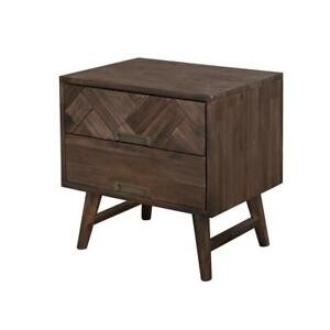 Nachttisch 2 Schubladen Holz Modern Factory Loft Design Holz Herren Schlafzimmer