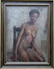 CONSTANCE ANNE PARKER BRITISH ROYAL ACADEMY PORTRAIT OIL PAINTING  BLACK WOMAN