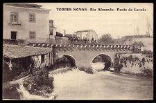 TORRES NOVAS/ Rio Almonda - Ponte da Levada (DAM) old Postcard Santarem PORTUGAL