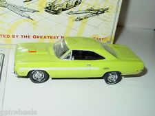 Matchbox Collectibles MOY 1970 70 PLYMOUTH GTX -Lime, 1/43 MINT IN BOX