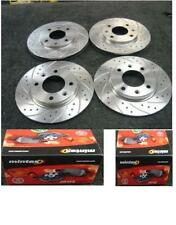 PEUGEOT 206 GTI 180 CROSS DRILLED GROOVED BRAKE DISC  MINTEX PADS FRONT REAR