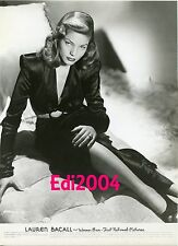 """LAUREN BACALL Vintage Original Signed AUTOGRAPH Card & 1945 Photo 'TO HAVE NOT"""""""