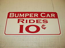 BUMPER CARS Sign Vintage Style Game Room Carnival Fair Boardwalk Amusement Park