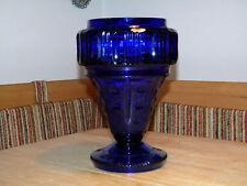 riesige geschliffene 29 cm VASE aus KOBALT GLAS ca.1900 kobaltblau Kobaltglas