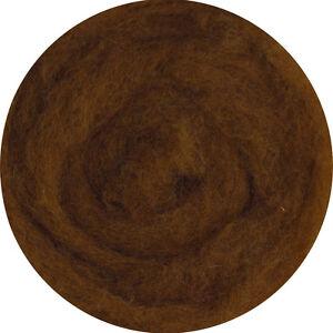 Carded Roving Wool Felting Spinning Craft Needle VK2013 - Dark Brown Chocolate