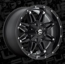 18x9 ET-12 Fuel D531 Hostage 8x170 Matte Black Rims (Set of 4)