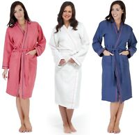 Anucci Ladies Pure Cotton Waffle Robe