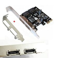 PCI-E Express SATA3 SATA3.0 6Gb/s eSATA SATA III Card w/ Low Profile Bracket
