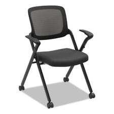 The Hon HVL314.VA10.T Vl314 Mesh Back Nesting Chair, Black Seat/black Back,