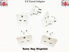 5 x UK  Power Adaptor Plug Converter Travel Adapter Europe, USA, Canada, Japan