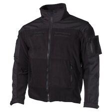 Professional Tactical Military Fleece Jacket COMBAT - High Defense - Black