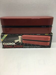 Clairol Time Saver Hot Rollers Curls w/Clips Dual Voltage Travel Style PTC 8