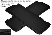 WHITE STITCH 2X SUN VISORS LEATHER COVERS FITS MERCEDES W108 STACKLIGHT 65-72