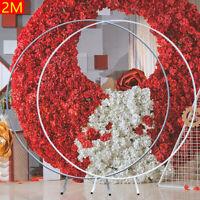 Round Wedding Arch Background Decorative Frame Mall Flower Display Silver /White