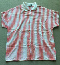 Vintage Stripped Collar Shirt Red And White. Size S/M Womens