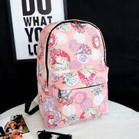 Women Girls Floral Backpack School Bookbag Shoulder Bags Outdoor Travel Rucksack