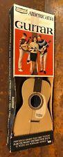 "Vintage 1960s Emenee Americana ""Folk Singer"" Guitar w/ Original Box, Booklet"