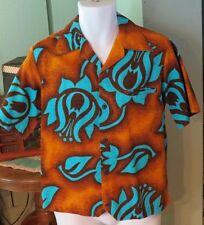 "Vintage Men's MALIHINI HAWAII HAWAIIAN Shirt ~ 60s - 70s?  41"" chest  S - M ?"