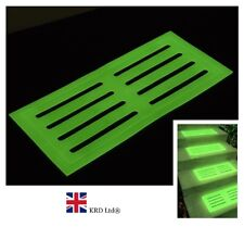 GLOW IN THE DARK STAIR MAT High Visibility Step Tread Safety Mats 39 x 18 cm UK
