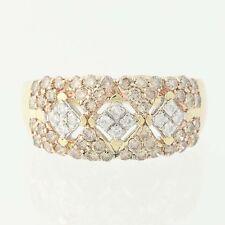 NEW Diamond Ring - 14k Gold Champagne Brown & White Round Brilliant 1.02ctw