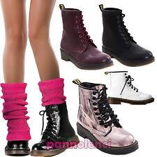 Zapatos Mujer Botas Militares Ciclista Botines Bajos Botas Bajo Eco Piel 57788