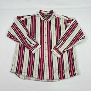 Vintage Trader Bay Men's XL Long Sleeve Button Down Vertical Strip