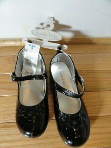 Girls KOALA KIDS DRESS SHOES  BLACK SHINY SIZE 11 NEW WITH TAGS