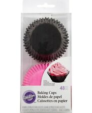 Wilton Doily Standard Baking Cup Kit Pink Inner Cup and Black Outer Cup 48 pc