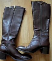 FRATELLI ROSSETTI -ITALY SMART BROWN LEATHER CALF LENGTH BOOTS UK 4.5 EU 37.5