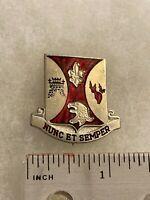 Authentic US Army 196th Infantry Regiment DUI DI Unit Crest Insignia G-2