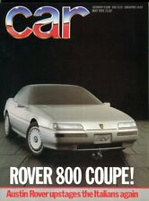 CAR magazine May 1986 Rover 800 Coupe Golf GTi Escort XR3i Aston Martin Caterham