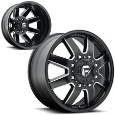 "20"" Fuel Maverick Dually D538 Black Wheels Rims 8x6.5 8 lug Chevy GMC Dodge RAM"