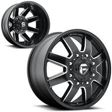 "22"" Fuel Maverick D538 Dually Dualie Black Wheels Rims 8x200 Ford F350 2005+"