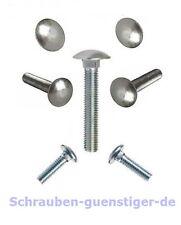 5 unid braguitas castillo tornillos de 8 mm m8 din 603 lleno de rosca 8 x 50 acero inoxidable a2