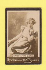 OGDENS GUINEA GOLD - ACTRESS BASE M WHITE FRAME CARD -  FLORENCE  R - M  - 1900