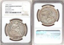 1846-O Seated Dollar NGC XF Rotated Reverse Dies Rare Major Mint Error
