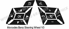 Mercedes Benz SLK 230 Worn Peeling Steering Wheel Button Repair Decals Stickers
