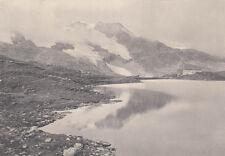 Photo originale CHEMIN DE FER Bernina kreuzsee plupart BERNINAPASS chr. MEISSER