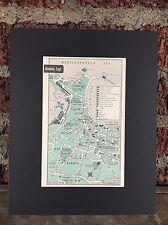"City Map of Alexandria Egypt 1958 Mid Century Black Matted 8""x10"" Art Print"
