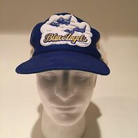 VINTAGE BLUE ANGELS U.S. NAVY Trucker SNAPBACK HAT CAP Super Rare 1980s