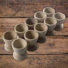 More details for classic wooden egg cups natural beech crafts breakfast wedding holder stands