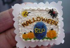 Dollhouse Miniatures Clay Halloween Sheet Cake Fancy Night Festival -5
