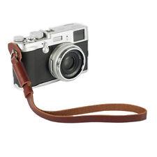 Mirrorless Digital Camera Hand Lanyard Wrist Strap Belt PU Leather Metal Ring