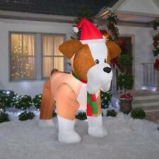 8 ft. Fuzzy French Bulldog Christmas Inflatable