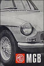 1968 1969 MG MGB Owners Manual USA 68 69 Owner Guide Handbook MG B